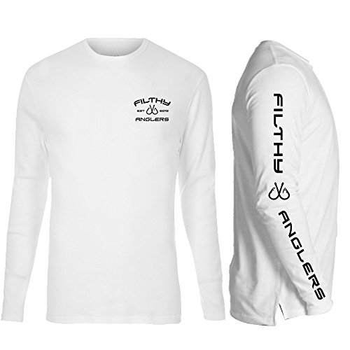 Long Sleeve Cotton Shirt Fishing (Filthy Anglers Long Sleeve Fishing Shirt : Cotton: White Tee for Men and Women XL (X-Large, White))
