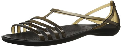 crocs Women's Isabella W Jelly Sandal, Black, 8 M US