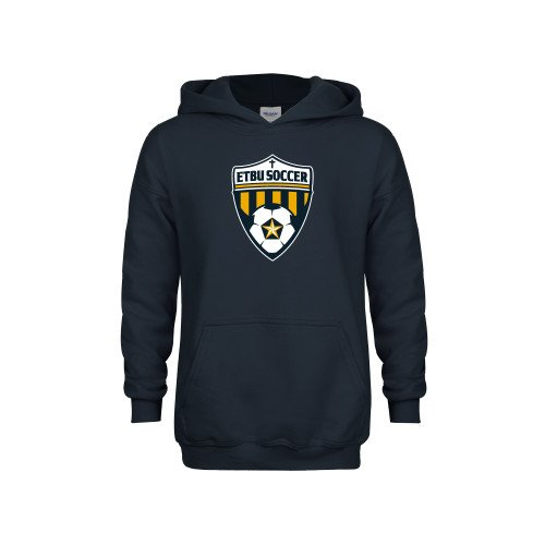 East Texas Baptist Youth Navy Fleece Hoodie Soccer Shield
