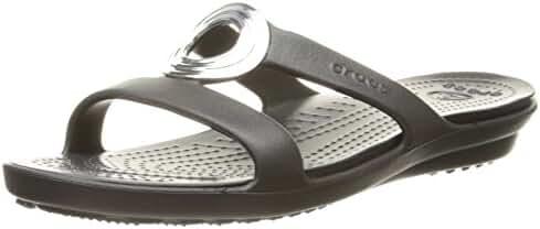 crocs Women's Sanrah Beveled Circle Sandal