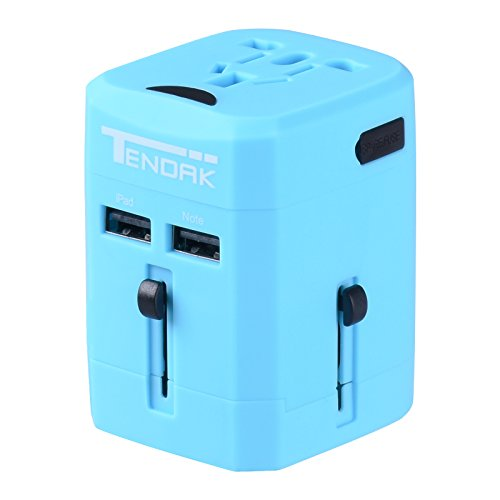 Tendak International Adapter Charger More Blue
