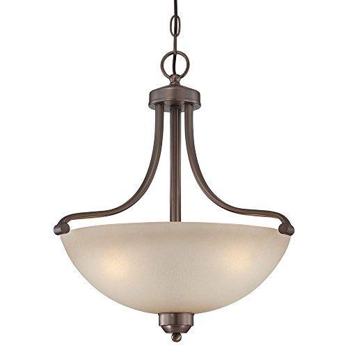 Minka Lavery Paradox 1426-281 Bowl (20''H x 18''W) 3 Light 300 watt Pendant in Bronze by Minka-Lavery by Minka