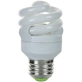 Sunlite SMS9F/65K 9-Watt Super Mini Spiral Energy Saving Medium Base CFL Light Bulb, Daylight