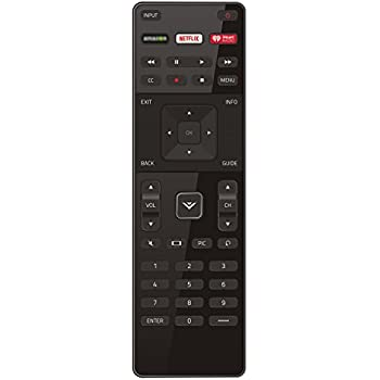 XRT122 Replaced Remote with Netflix iHeart Shortcut Key Fit for Vizio LED HDTV TV D39H-D0 D39HD0 D50U-D1 D50UD1 D55U-D1 D55UD1 D58U-D3 D58UD3 D65U-D2 D65UD2 E32-C1 E32C1 E32H-C1 D32-D1 E65-C2 E70-C3