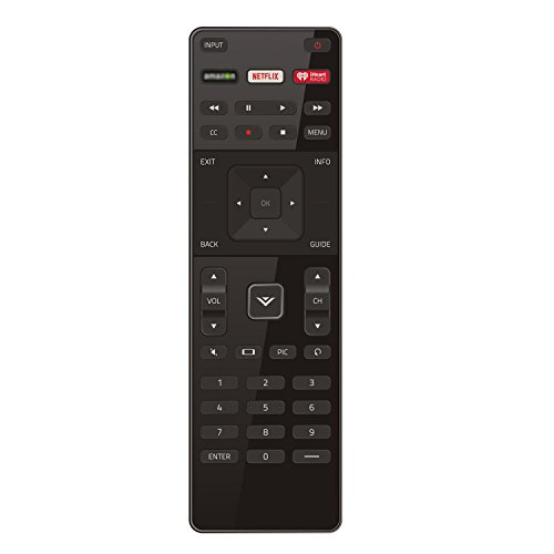 New XRT122 Remote with Netflix iHeart Shortcut Key Fit for Vizio LED HDTV TV D39H-D0 D39HD0 D50U-D1 D50UD1 D55U-D1 D55UD1 D58U-D3 D58UD3 D65U-D2 D65UD2 E32-C1 E32C1 E32H-C1 D32-D1 E65-C2 E70-C3