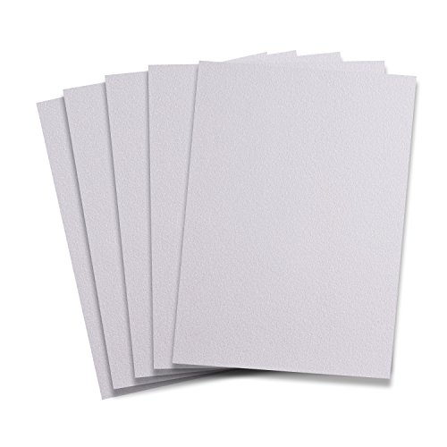 Rozzy Crafts White Glitter Heat Transfer Vinyl HTV - 5 Sheets Each 10 in x 12 in HTV for Cricut and Silhouette