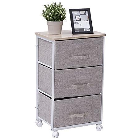costway 3 4 drawer storage unit fabric bedside table cabinet rh amazon co uk 4 drawer storage cabinet plastic connell 4 drawer storage cabinet