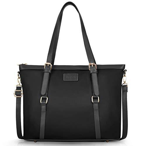 (Bageek Tote Bag for Women Nylon Waterproof Tote Purses Blue Work Tote Handbags (blue, large) (black))