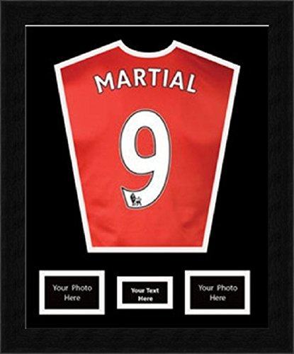 DIY football shirt framing design with top layer mount and 2 (6\
