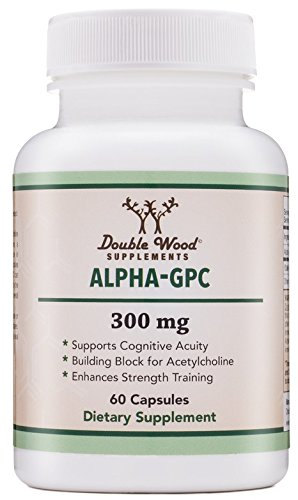 Alpha GPC Choline Supplement, Pharmaceutical Grade, Made in USA (60 Capsules 300mg)