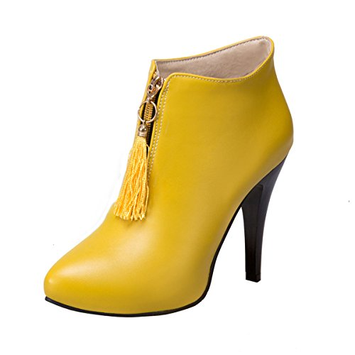 uBeauty Damen Pumps Stilettos Stiefeletten High Heels Kurzschaft Boots mit Plateau  40 EURot