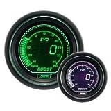 Boost Gauge- Electrical Digital Green/white EVO Series 52mm (2 1/16) by Prosport Gauges