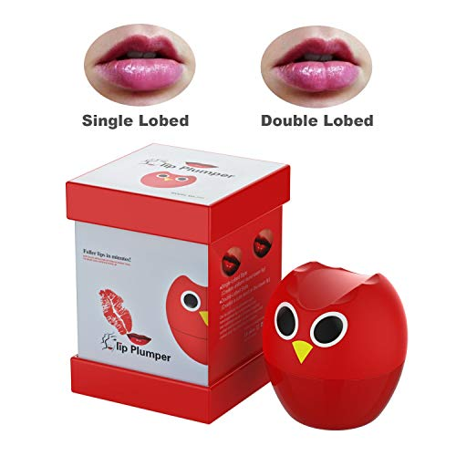 Lip Plumper Device,Lip Plumper Enhancer Lip Plumper Tool Suction Cup Mouth Lips Enlargement Tools Plumping Bigger Lips Device (Owl pink) (The Best Lip Plumper Ever)