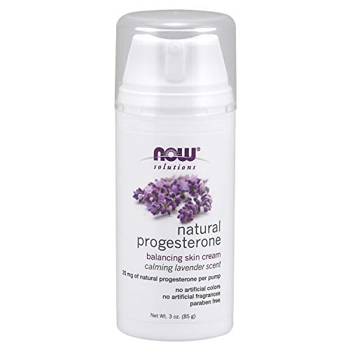 Now Solutions, Natural Progesterone, Balancing Skin Cream with Lavender, 20 mg of Natural Progesterone Per Pump, 3-Ounce (Best Progesterone Cream For Fertility)