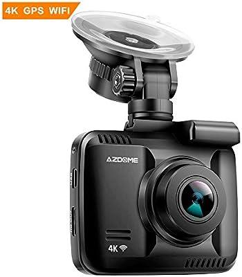 GS63H AZDOME Autokamera mit 4K Aufl/ösung Dash Camera mit G-Sensor WiFi Dashcam mit GPS und Loop-Aufnahme Dash Cam mit 170/° Weitwinkelobjektiv und Nachtsicht Parkmonitor und Bewegungserkennung