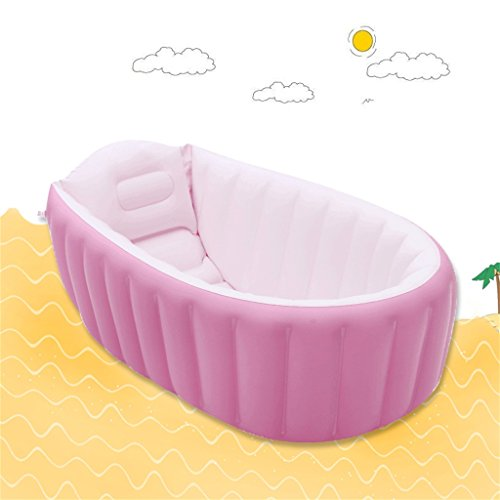 LQQGXL,Bath Child Inflatable Bathtub Inflatable Inflatable Pool Thicker Thermal Pool Collapsible Ocean Pool Pool Water Playground Inflatable bathtub ( Color : Pink ) by LQQGXL