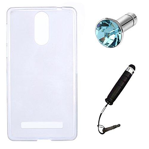 Lusee® Funda de silicona para Leagoo M8 / M8 Pro 5.7 pulgada Suave Cascara TPU gris semi transparente blanco semi transparente