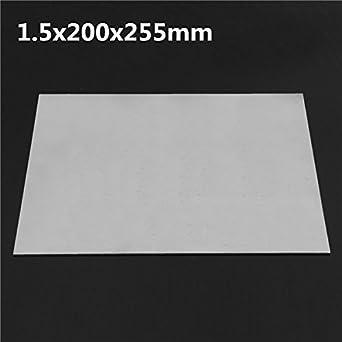 New 1 5x200x255mm Titanium Plate Titanium Ti Sheet Plate Gr 5 Metal