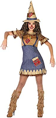Atosa-54495 Atosa-54495-Disfraz Espantapájaros-Adulto XS a S-Mujer ...