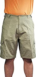 Norty - Rio Mens Ripstop Cargo Short, Charcoal 39167-32