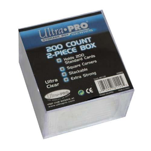 200 Piece Box (Ultrapro 200Ct 2-Piece Plastic Box)