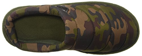 Dearfoams Men's Quilted Clog Slipper, M US Camouflage
