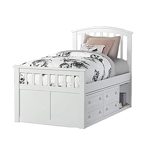 HDFUF Hillsdale Charlie Captains Bed One Storage Unit, Twin, ()
