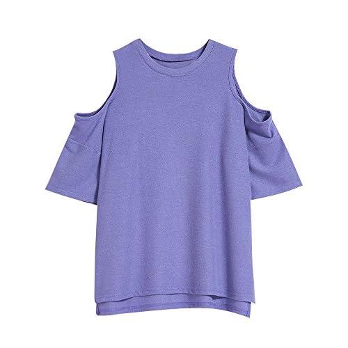 Xmy L'épaule de rosée t-shirt femme d'été à manches courtes, longues, pulls, de l'état sauvage est exposée épaules yi les femmes sont code
