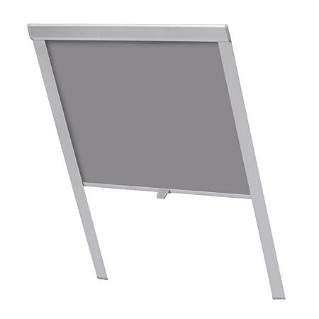 HENGMEI Verdunkelungsrollo für Dachfenster in GrauThermo Sonnenschutz für Velux Fenstersysteme Dachfenster Verschiedene Größe