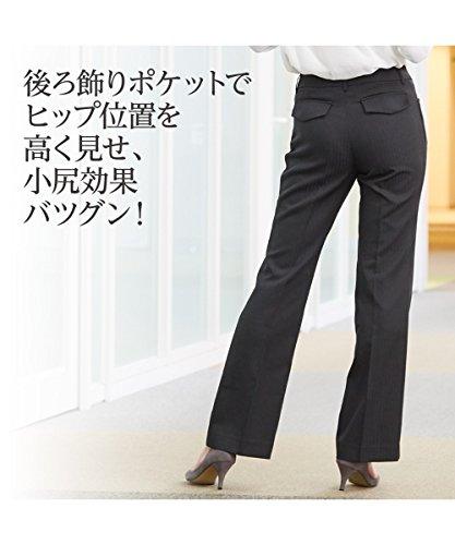 [nissen(ニッセン)] スーツ 上下 3点セット ジャケット パンツ スカート 洗える オールシーズン シャドーストライプ レディース