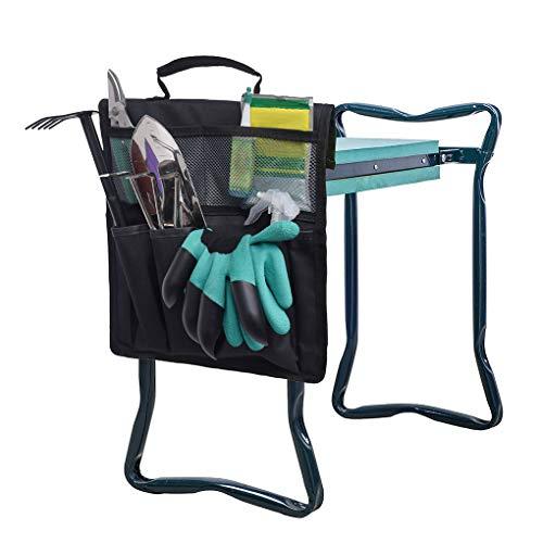 Clobeau Garden Kneeler Seat Bags Garden Tools Bags Gardening Tote Bag Gardeners Bench Kneeling Bag Garden Caddy Bags…