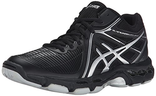 ASICS Women's Gel Netburner Ballistic MT Volleyball Shoe, Black/Silver, 7 M US by ASICS