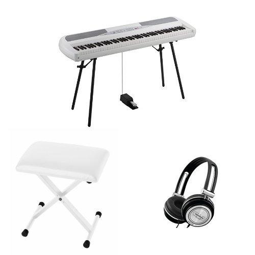KORG 電子ピアノ SP-280-WH 88鍵 ホワイト ご自宅練習セット B01M05Y7W0 ホワイト