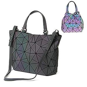 Sacs à Main Géométriques pour Femmes Sac à Bandoulière Cross Body Bag Luminous Grand Sac Fourre-Tout Sac Hobos Shard…