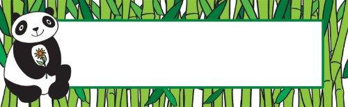 Scholastic TF8166 Multipurpose Cards, Panda