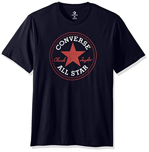 Converse Men's Chuck Patch Short Sleeve T-Shirt, Dark Navy, XS