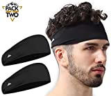 Mens Headband - Running Sweat Head Bands for Sports - Athletic Sweatbands for Workout/Exercise, Tennis & Football -...