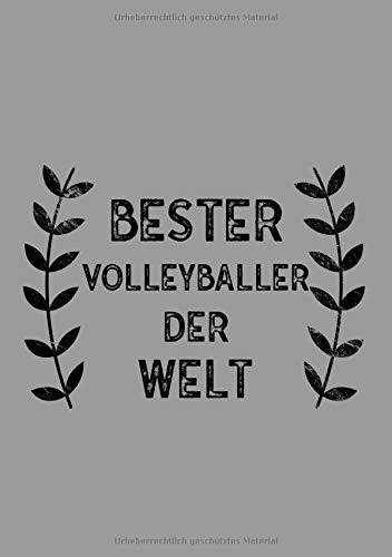 Bester Volleyballer Der Welt: DIN A5 Notizbuch   120 linierte Seiten   Überraschung oder Geschenkidee zu Weihnachten oder Geburtstag für einen Volleyballer por PaperPat
