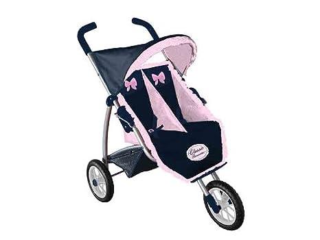 Decuevas Toys - Silla gemelar para muñecas con 3 ruedas (90300)