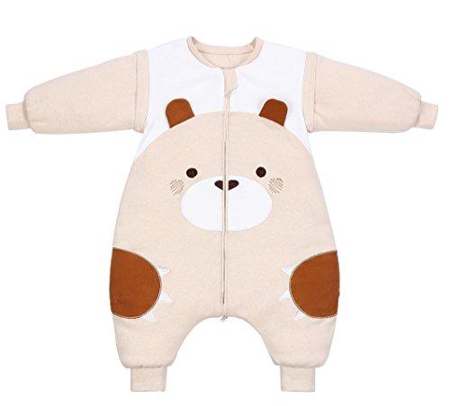 PEACE MONKEY Wearable Blanket Baby Sleep Sack Soft Warm Cotton Sleep Bag Pajama For Babies(M, Little Bear)