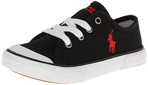 Polo Ralph Lauren Kids Chaz Sneaker (Toddler/Little Kid/Big Kid),Black,2.5 M US Little - Kids Lauren Ralph Discount