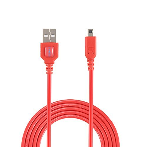 Exlene Nintendo 3DS USB Power Charge cable [Play while charging ] For Nintendo 3DS, 3DS XL, 2DS, 2DS XL LL ,DSi, DSi XL (1.2M/4ft, red)