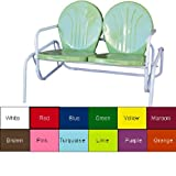 "Retro Metal Double Glider (Lime) (32""H x 49""W x 34""D)"