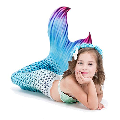 Mermaid Tails for Swimming with Monofin - Kid Sizes Sun Tail Mermaid  Designer Mermaid Tail Monofin for Swimming Swim Fins for Kids Mermaid Tails  for
