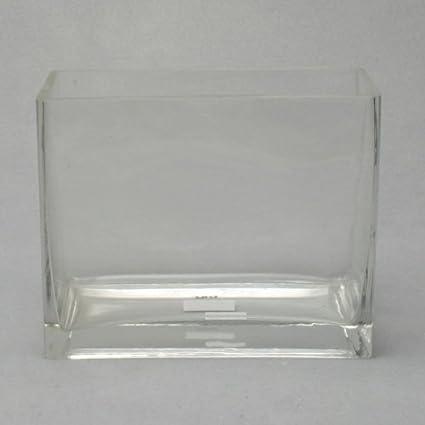 Amazon Candleholders Rectangular Clear Glass Vase Everything