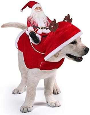 Idepet Trajes para Perros Navidad, Disfraz de Gato Navidad con ...