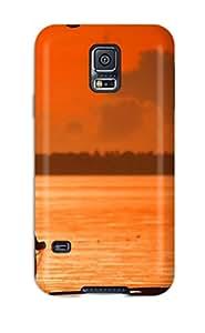 ZippyDoritEduard GdojEiX908LFbgf Case Cover Galaxy S5 Protective Case A Fisherman In A Boat Castig A Net In Water