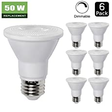 6 Pack - PAR20 Dimmable LED Bulb, 7W ( 50W Equivalent ) Flood Light Bulb, 3000K Warm White 500lm, 40° Beam Angle Spot Lighting, E26 Medium Screw Base, UL Listed, XMprimo