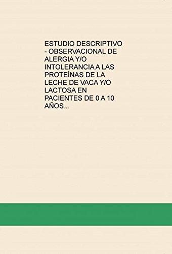 ESTUDIO DESCRIPTIVO - OBSERVACIONAL DE ALERGIA Y/O ...