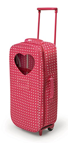 Badger Basket Trolley Doll Travel Case with Rocking Bed (fits American Girl Dolls) , Star Pattern (Doll Carrier Pattern For 18 In Doll)